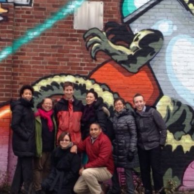 Barr staff on a site visit to Bartlett on the eve of demolition in December 2013