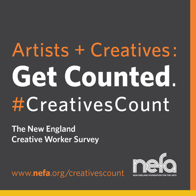 Ad for NEFA Creative Counts Survey