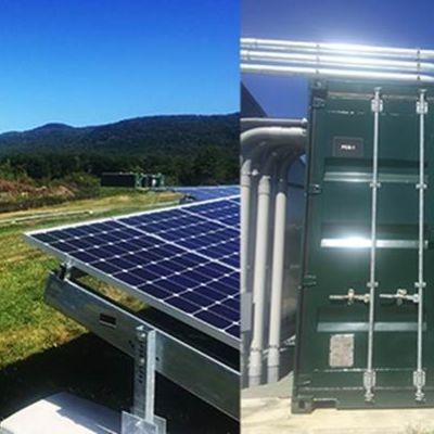 Stafford Hill solar farm and energy storage unit