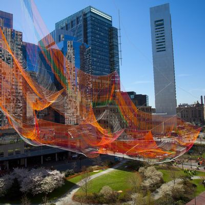 Janet Echelman As If It Were Already Here