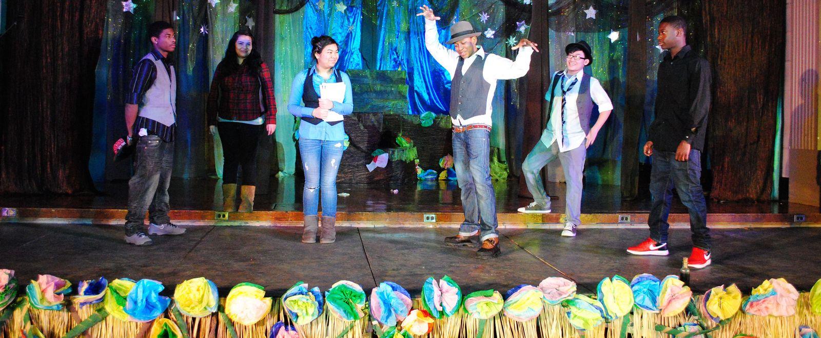 EdVestors Play performance on stage