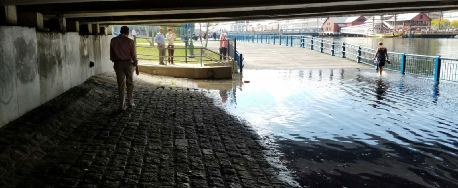 King tide causes flooding in Boston