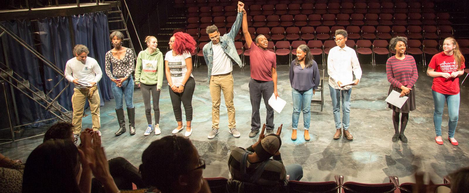 Huntington Students on stage
