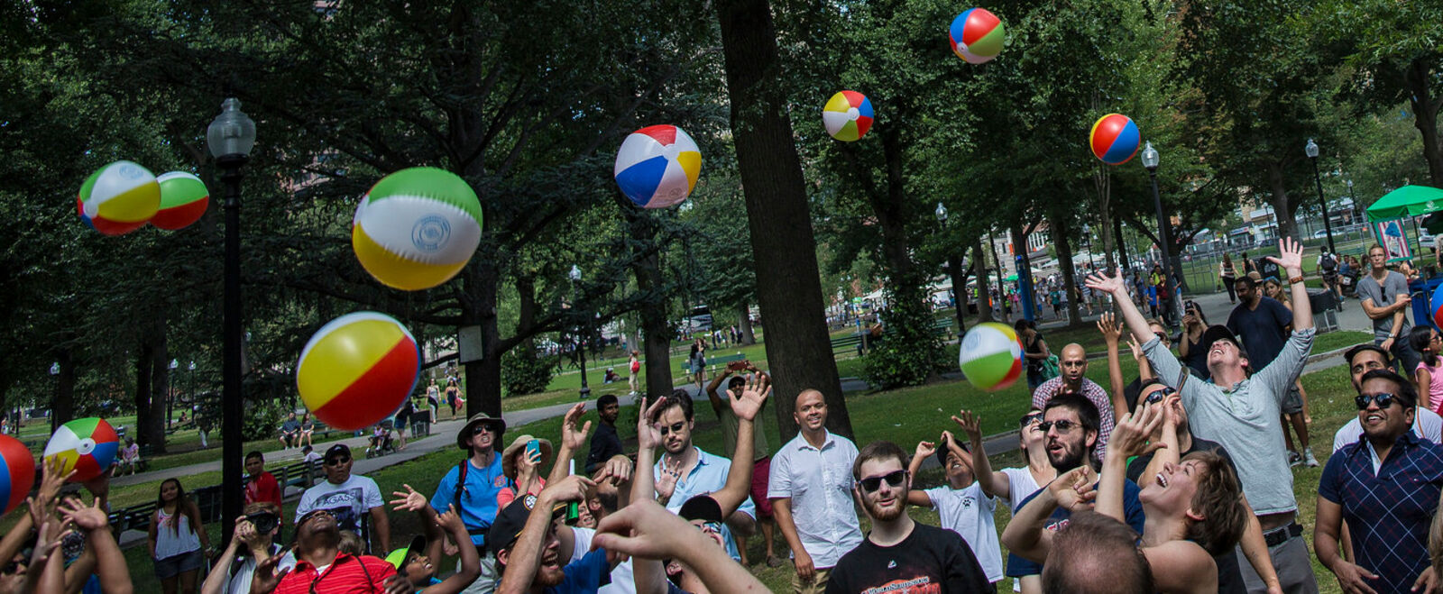 Leo March Boston Creates Beach Balls