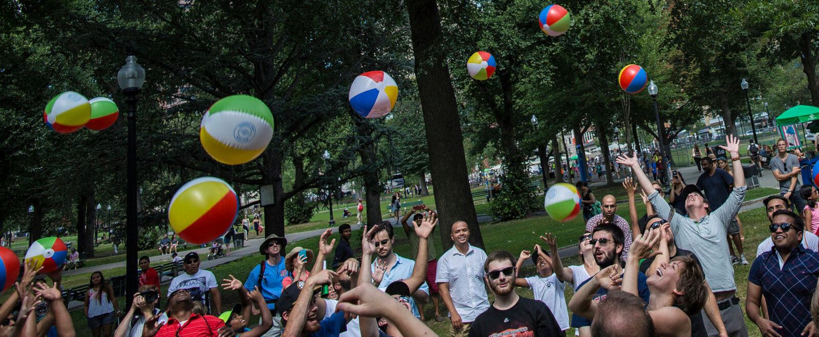 Leo March Boston Creates Beach Balls