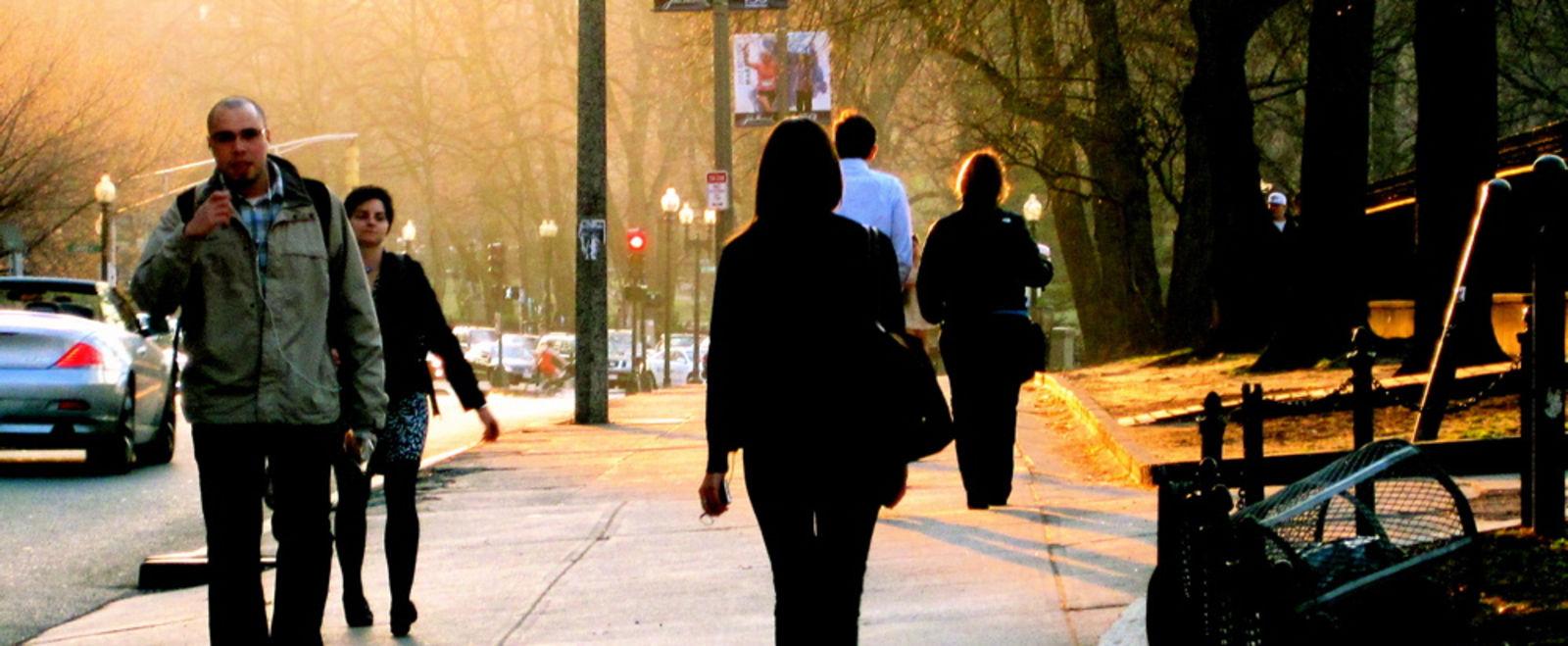 People Walking in Boston