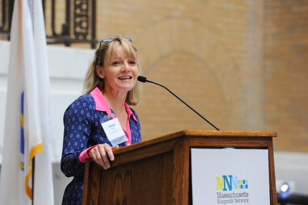 Strategies for Children's Carolyn Lyons at the 2014 Nonprofit Awareness Day Award Ceremony (Photo courtesy of MNN)