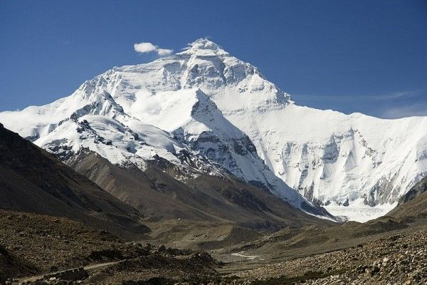 Everest North Face toward Base Camp Tibet photo by Luca Galuzzi Wikimedia Commons