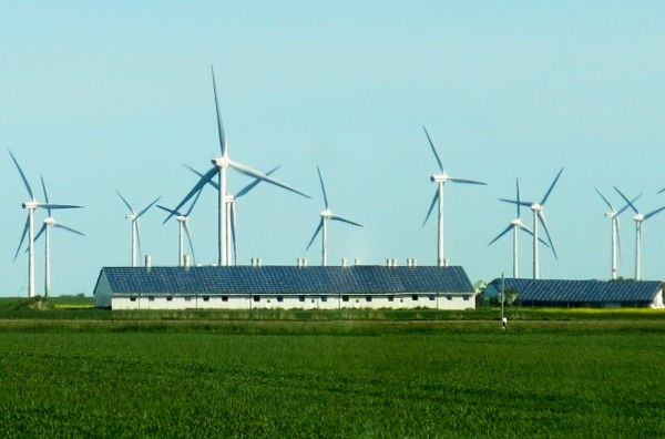 Solar and wind generation at Husum farm Germany