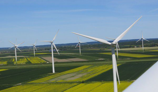 view from top of a wind turbine Husum Germany