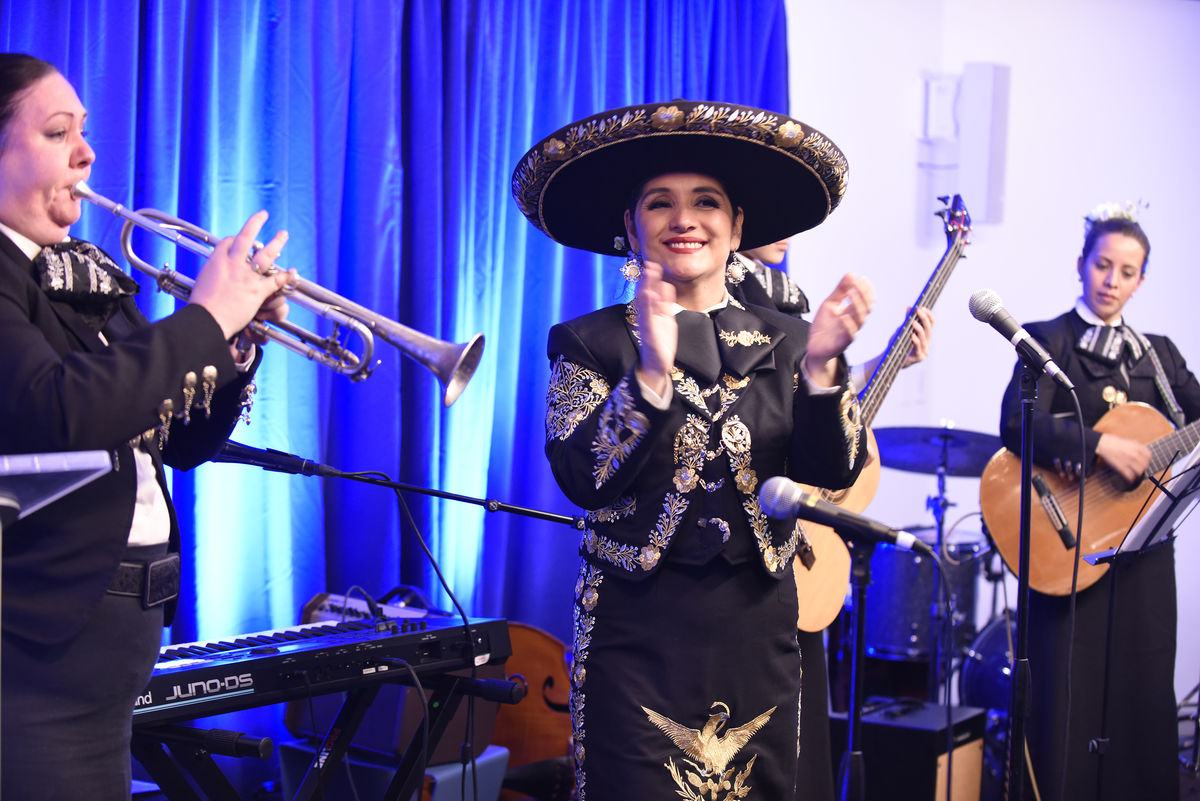 Boston's First All Women Mariachi band performing.